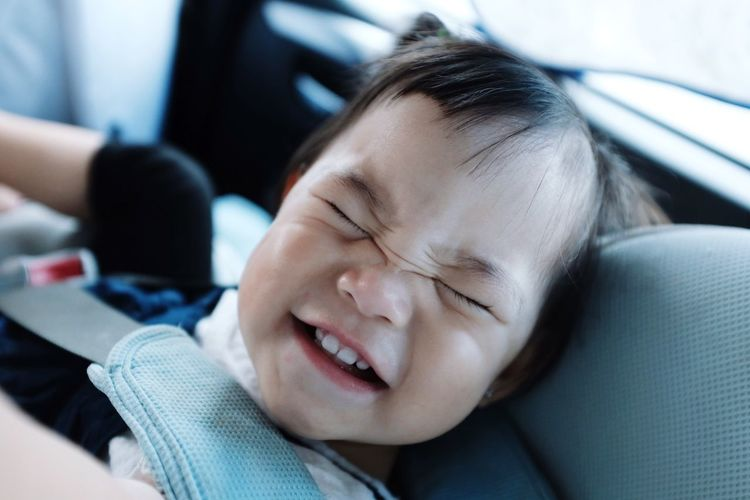 BIG SMILE :D Close-up Children Child Smile People Car Day Indoors  One Person Eyes Closed  Relaxation Smiling Headshot First Eyeem Photo