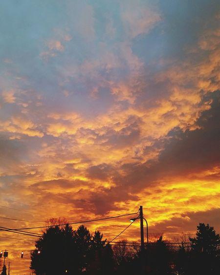 Beautiful Sunset Clouds Skyonfire