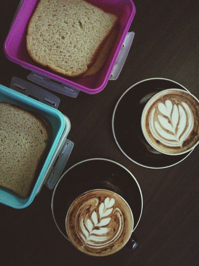 home make sandwich with Cappuccino Cappuccino Almond Butter Sunshine Bread Coffee - Drink Coffee Cup