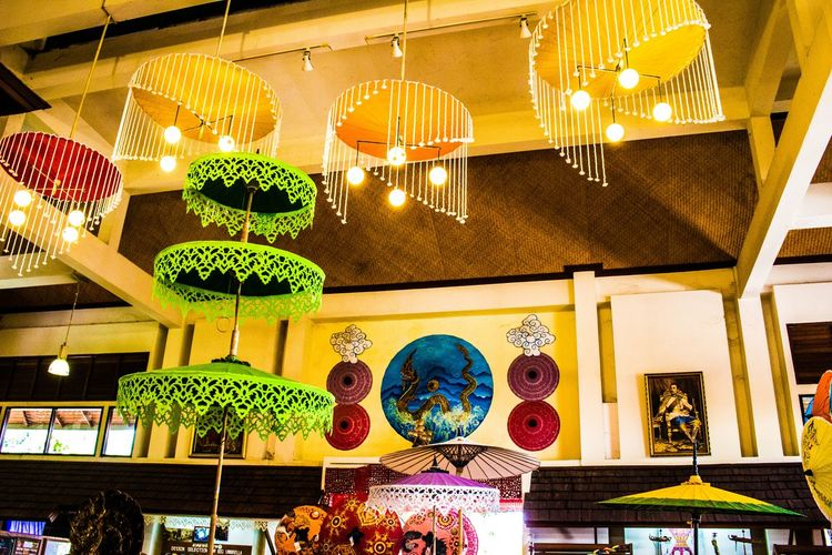 Bo Sang Umbrella Factory, Chiang Mai, Thailand Bo Sang Umbrella Factory Chiang Mai | Thailand Craft Display Showroom Tourism Umbrella