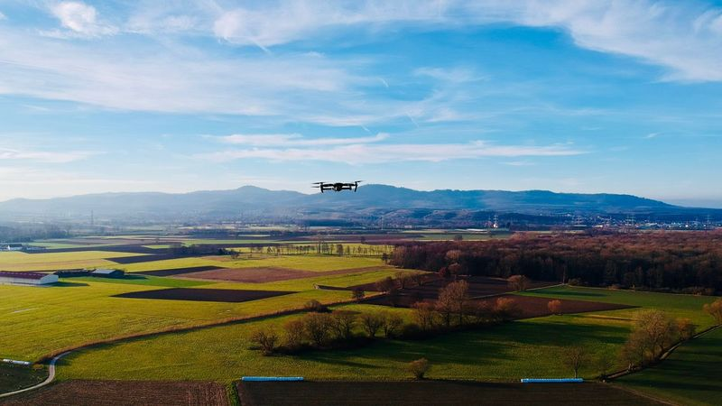 Drone in the sky DJI X Eyeem Autumn Winter Sunset Aerial View Dronephotography Blackforest Kaiserstuhl Hills Flying Drone  DJI Mavic Pro Dji No People Air Vehicle Mountain Outdoors Beauty In Nature Day Agriculture An Eye For Travel
