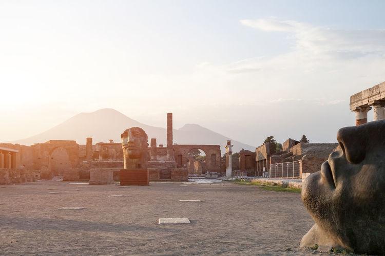 Ancient Architecture Ancient Ruins Architecture Built Structure City Cityscape Cloud Cloud - Sky Day Mammal Mountain Nature No People Outdoors Pompeii  Sky Tourism Travel Destinations