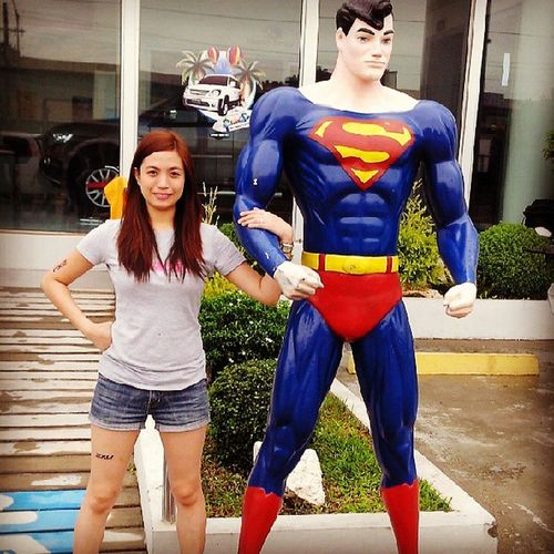 Louis Lane with Clark Kent! <3 Assuming  Manofsteel Superman Bestoftheday instapic instamood photooftheday subic red blue superwoman instagram