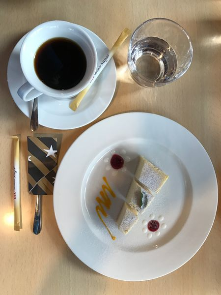 Food And Drink Refreshment Drink Plate Table Coffee Cup Still Life Coffee - Drink Fork Freshness Serving Size Indoors  Food Drinking Glass High Angle View Saucer No People SLICE Directly Above Indulgence
