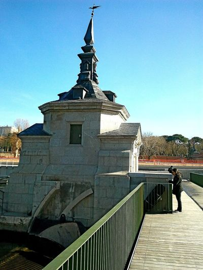 esclusas River Madrid Manzanares Day Winter SPAIN Clear Sky Full Length City Railing Sky Architecture Built Structure Building Exterior EyeEmNewHere