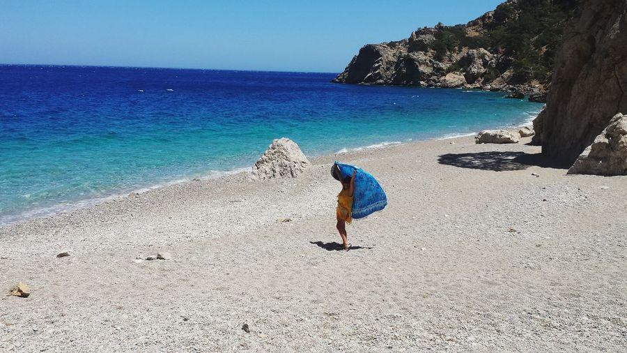 Una spiaggia tutta per me EyeEmNewHere The Great Outdoors - 2017 EyeEm Awards Greek Islands Greek Summer Greek_colours Beach BEACH!
