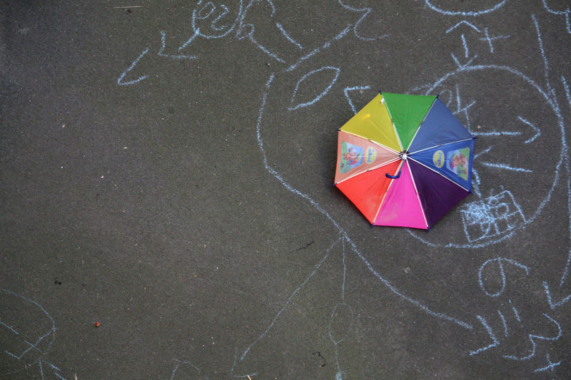 Doodle Rainbow Colors Signs Child Drawing Color Of Life Colorful Contrast Contrasting Colors Lines, Shapes And Curves Numbers Parasol Prismatic Colors Scribble Umbrella