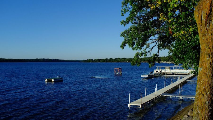 Fair Hills Resort Minnesota Beauty In Nature Blue Clear Sky Day Lake Mode Of Transport Moored Nature Nautical Vessel No People Outdoors Sailboat Sailing Scenics Sky Tranquil Scene Tranquility Transportation Tree Water
