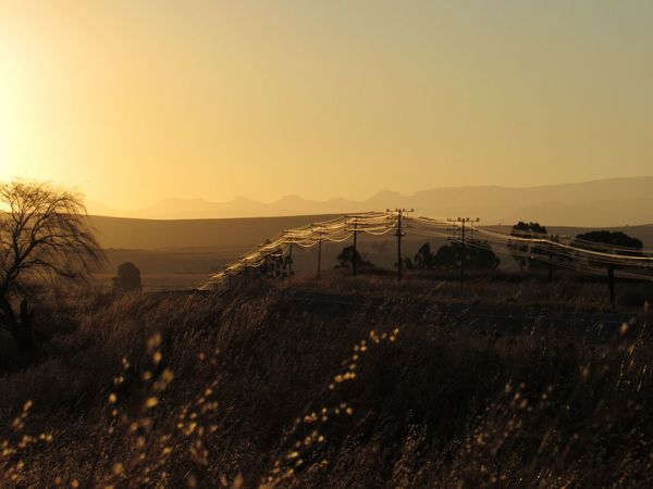 Sunset Outdoors No People Nature Landscape Beauty In Nature Scenics EyeEmNewHere Kwazulunatal Power Lines Eye4photography  Day Roadtrip First Eyeem Photo