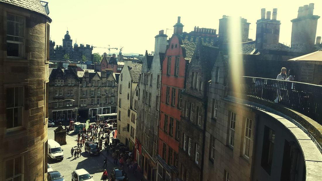 Edinburgh Sunshine Walking Around Bars