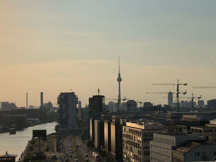 Freiheitberlin Iwantthatcamera Architecture Building Exterior Built Structure City Building Sky Tower Skyscraper Spire  Office Building Exterior Travel Destinations Travel Cityscape Communication No People Outdoors Tall - High Sunset Modern Tourism #FREIHEITBERLIN