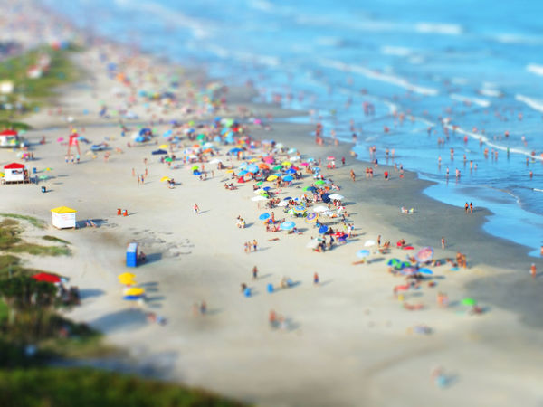 Mini beach Aerial View Beach City Multi Colored Outdoors People Sand Vacations