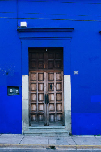 Arquitecture Colors Doors Oaxaca Shapes Architecture Blue Building Exterior Built Structure Door Doors Lover Doorway Entrance House Residential District