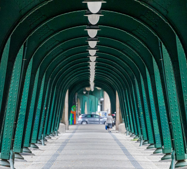 View of empty corridor at viaduct