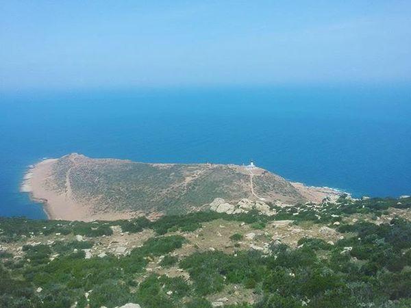 Tunisia IgersTunisia Haouaria Lighthouse Sea Blue Wikilovesearth Mountain Wletn2016 Wle2016 ملا عمك بوبكر ! ... تدور بعد لوزينة متاع الضو مكانش لا ترى لا فنار لا سيدي زكري :p