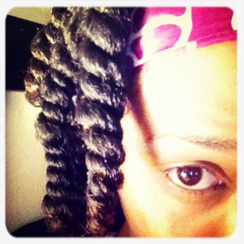 How I sleep w/ my hair at night for defined curls the next day #natural #twists