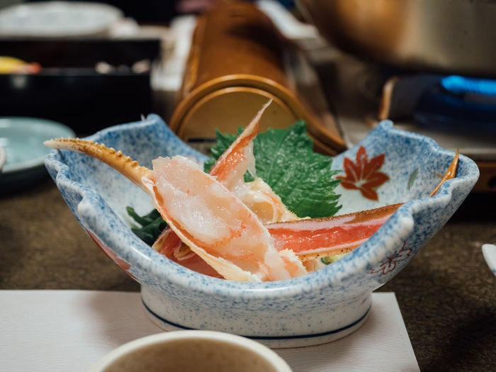 Close-up of vegetables in bowl on table