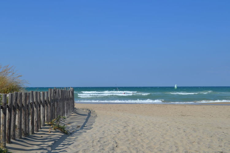 Puglia Beach Beachphotography Beauty In Nature Blue Clear Sky Copy Space Day Horizon Horizon Over Water Italy Nature No People Outdoors Sand Scenics Sea Sea And Sky Sky Summer Tranquility Travel Destinations Vacations Water Wave