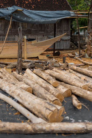 Wera Sangiang Boat yard, Sumbawa, Indonesia. Traditional boats are hand made on the beach. INDONESIA Island Life Sumbawa Tradition Beach Black Sand Boat Building Craft Craftmanship Day No People Outdoors Traditional Wood - Material Wood Work