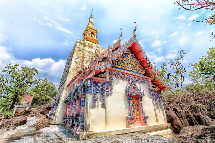 Another ancient temple of Khon Kaen. A new tourist attraction. EyeEm Best Shots EyeEmNewHere Thailand Architecture Architecture Building Building Exterior Built Structure Cloud - Sky History Outdoors Religion Thailand Temple