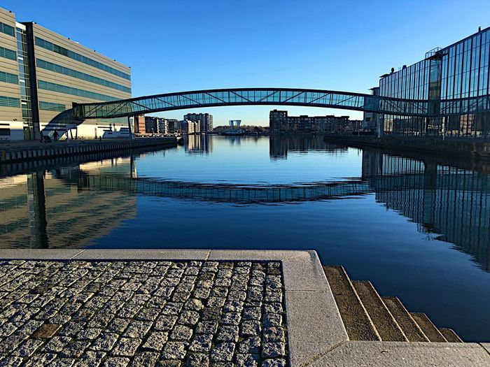 My bridge 🤗Sydhavnen København 500px shootermagazine shootermag eye4photography eyeemarchitecture blue sky Cityscape landscape Beautiful day streetphotography500px Shootermagazine Shootermag Eye4photography  Eyeemarchitecture Blue Sky Cityscape Landscape Beautiful Day Streetphotography Ladyphotographerofthemonth Aalborg Universitet I København Copenhagen Denmark Sydhavnen Architecture_collection Reflections In The Water Reflection_collection Mettebruus Mette Bruus Architecture Built Structure Water Reflection Building Exterior Bridge - Man Made Structure Clear Sky City Sky The Graphic City Stories From The City The Architect - 2018 EyeEm Awards Creative Space #urbanana: The Urban Playground My Best Photo