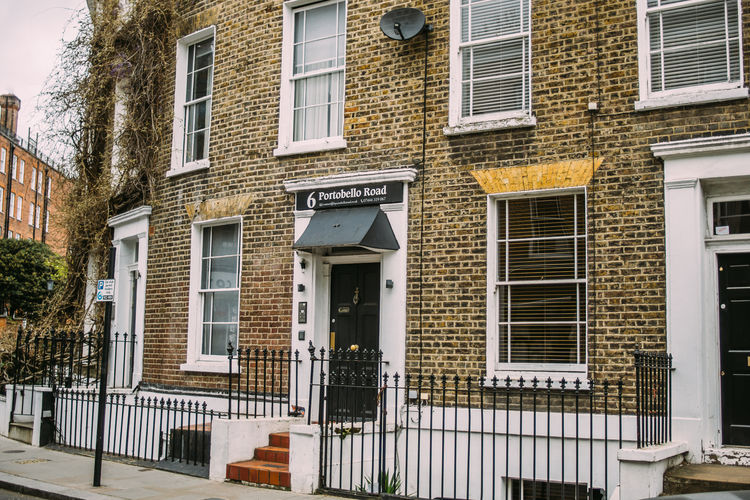 London City United Kingdom Architecture House Façade Portobello Road Brick Building Built Structure Building Exterior