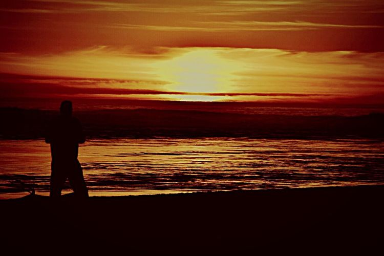 Learn & Shoot: After Dark February 2016_OceanSunset Silhouette Pacific Northwest  Beach Photography Nature_perfection Twlight Beauty Emotionalmoment EyeMe Best Shot - Landscape