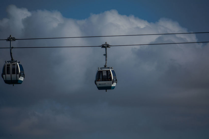 Cloud - Sky Sky Cable Car Cable Low Angle View Overhead Cable Car Mode Of Transportation Transportation Nature No People Hanging Day Outdoors Connection Travel Scenics - Nature Ski Lift Beauty In Nature Power Line