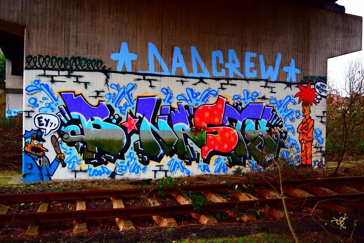 Architecture Art Außer Betrieb Bahn Bahngleise Blue Built Structure DB DB Bahn DB Building Duisburg Gleise Graffiti Multi Colored No People Out Of Order Schienen Stillgelegt Street Art Tot Verlassen Verlassene Orte Verlassene Plätze Wall Wall - Building Feature