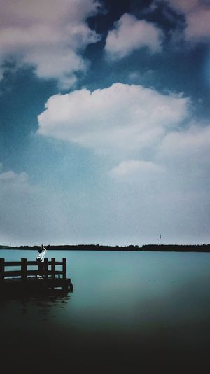 Praying Cloud - Sky Water Lake Sky Nature Beauty In Nature Tranquil Scene Scenics Chongming By Iphone 6+