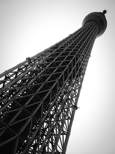 634 Tokyo Skytree Architecture Tokyo B&w