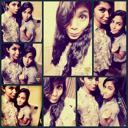 """God made us """"BEST FRIENDS"""" cz he knew our mom couldn't handle us as sisters👭👭 Love her to d moon n back😍😘"""