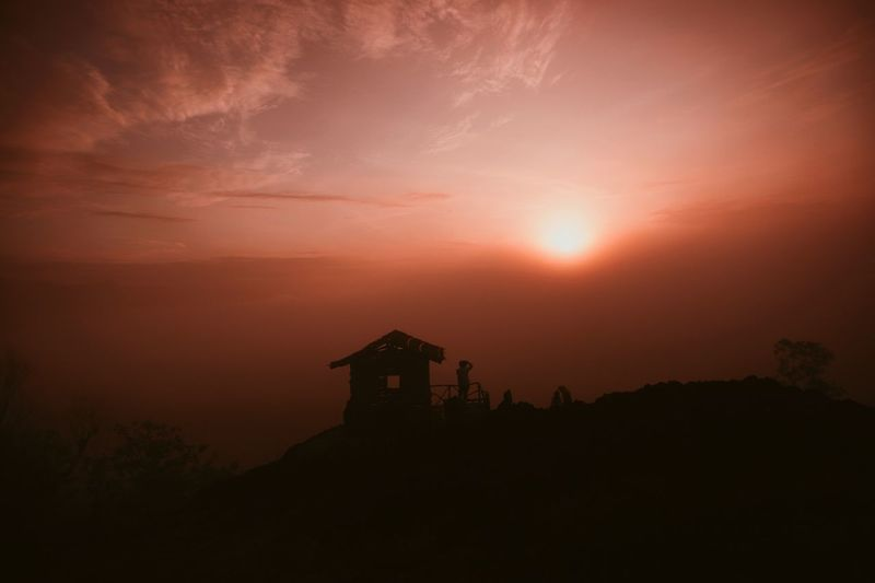 Sky Silhouette Architecture Sunset Built Structure Orange Color Nature Building Exterior Beauty In Nature Spirituality Cloud - Sky Tranquility The Past Scenics - Nature No People History Building Religion Tranquil Scene Outdoors