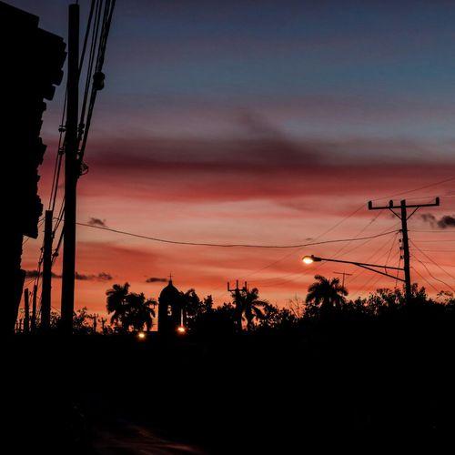 Evening sky - McGerhardinCuba Cuba Viñales Sunset Skyline Silouette RedSky