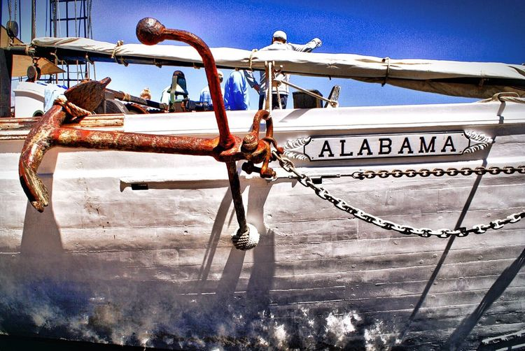 Text Day Outdoors No People Nautical Vessel Transportation Sky Close-up Hdr_Collection HDR Ship Anchor
