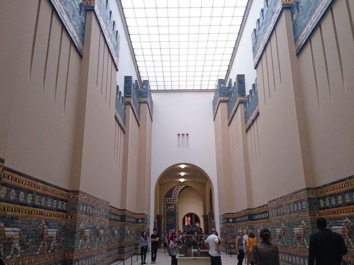 Un pasillo del Museo De Pergamo en Berlin