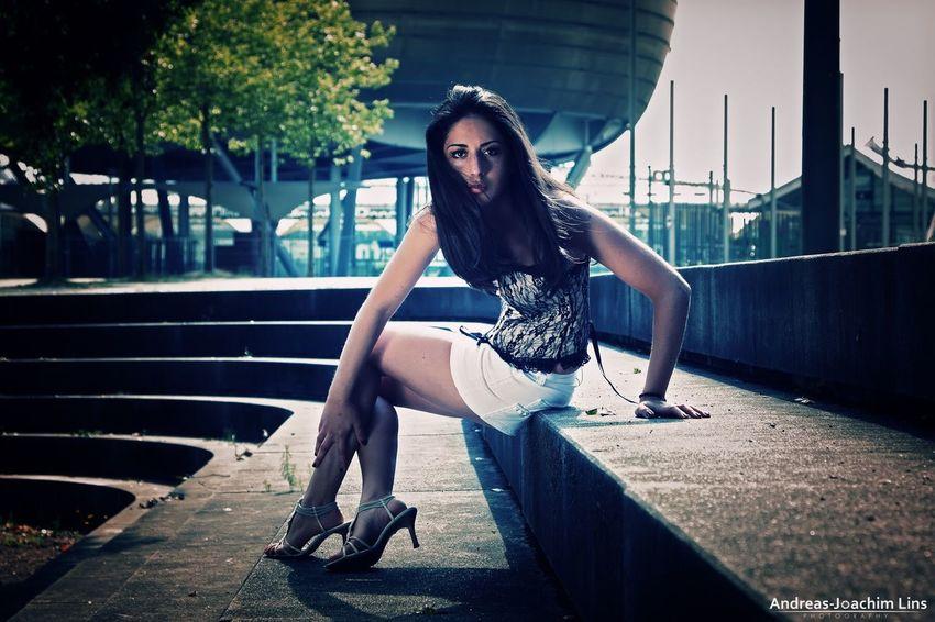 UFO Portrait Fashion Model Woman