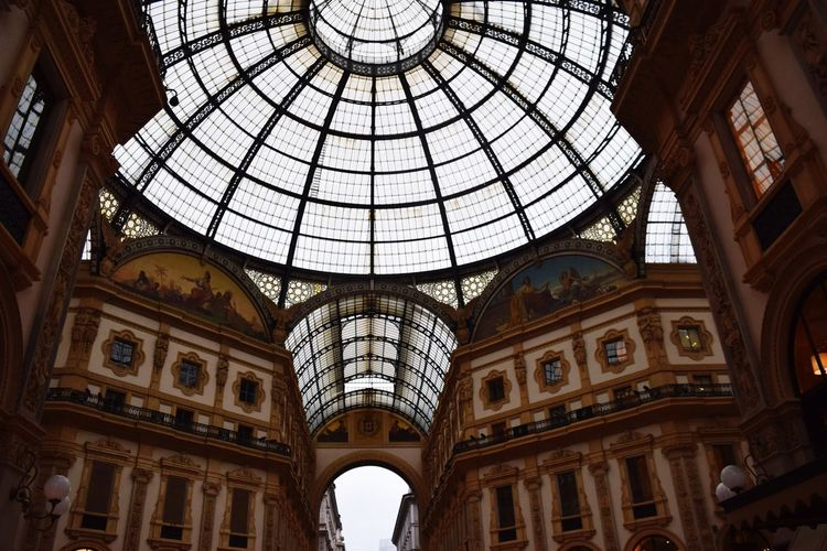 Milano Italy Architecture Dome Built Structure Indoors  Travel Destinations Ceiling Window