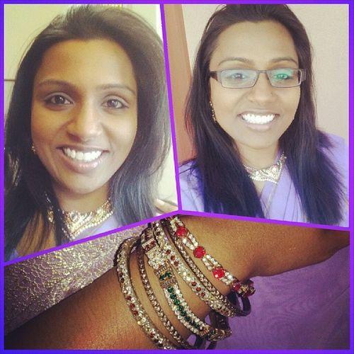 On my Hindu swagger!!! Blessed  Highlyfavored IndoGuyanese Sari bangles indianstyle indianculture proudhindu mandir sundaymorning thankyouDad VishsDad AryaSpiritualCenter Briarwood Queens NewYork