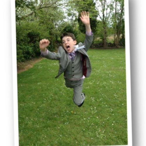 Brothers Communion Day Caught A Pic Of Him In The Air