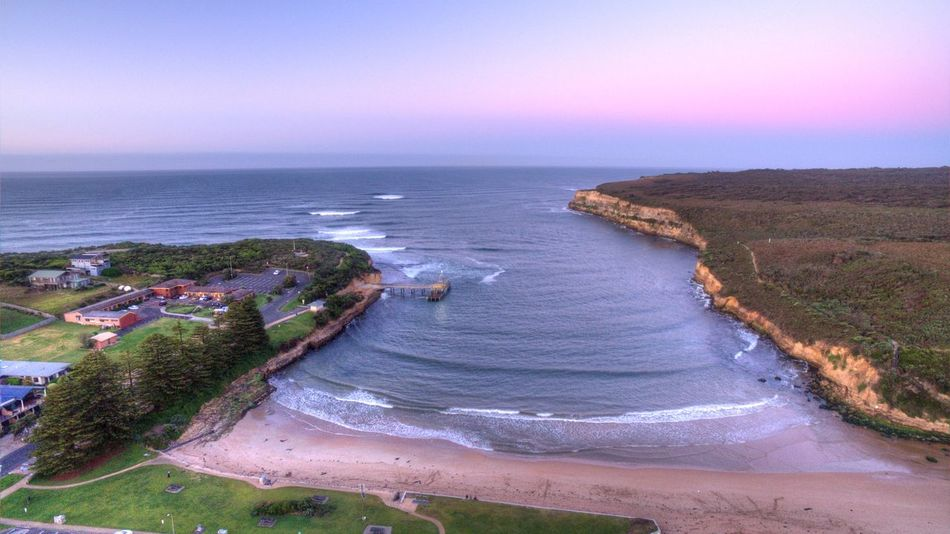 Post Cambell, Victoria, Australia. Australia Port Campbell Victoria Beach Beauty In Nature Coastline Drone Photography Horizon Horizon Over Water Land Motion Nature No People Outdoors Scenics - Nature Sea Sky Sport Sunset Tranquil Scene Tranquility Water