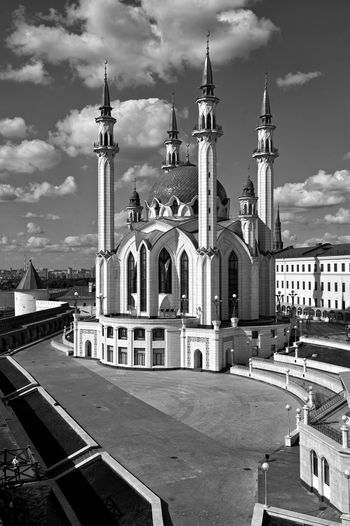 Architecture Black And White Church City Kazan Kul Sharif No People Religion Monochrome Photography