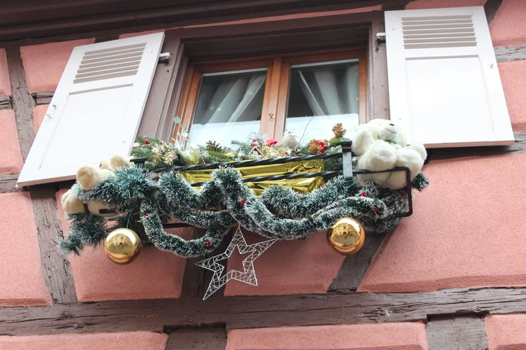 Alsace Christmas Cribs France Ornament Streets Typical Charming Houses Crib Crib Figurine Decoration Village