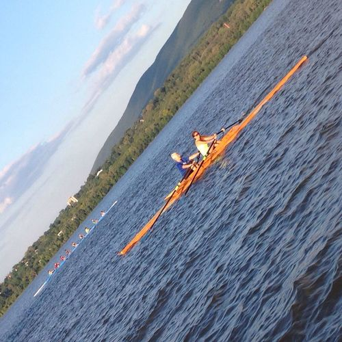 Me and my Rowing BFF in the therapeutic double, with an eight- man going by. Teenagers like to take pictures on an angle, what can I say? ????? Rowing Love To Row Tadaa Community The Purist (no Edit, No Filter)