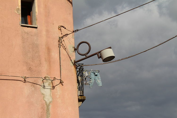 Clothes Line Italy Italy❤️ Old Bulding Old Lamp Sardinia Sardinien Strassenlaterne Street Lamp Tempio Pausania Trousers The Purist (no Edit, No Filter)