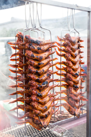 Delicious barbecue chicken wing at street stall in Malaysia Asian Foods BBQ Malaysian Food Barbecue Chicken Wing Close-up Food Grilled Meat No People Outdoors Ready-to-eat Stall Still Life Street Stall