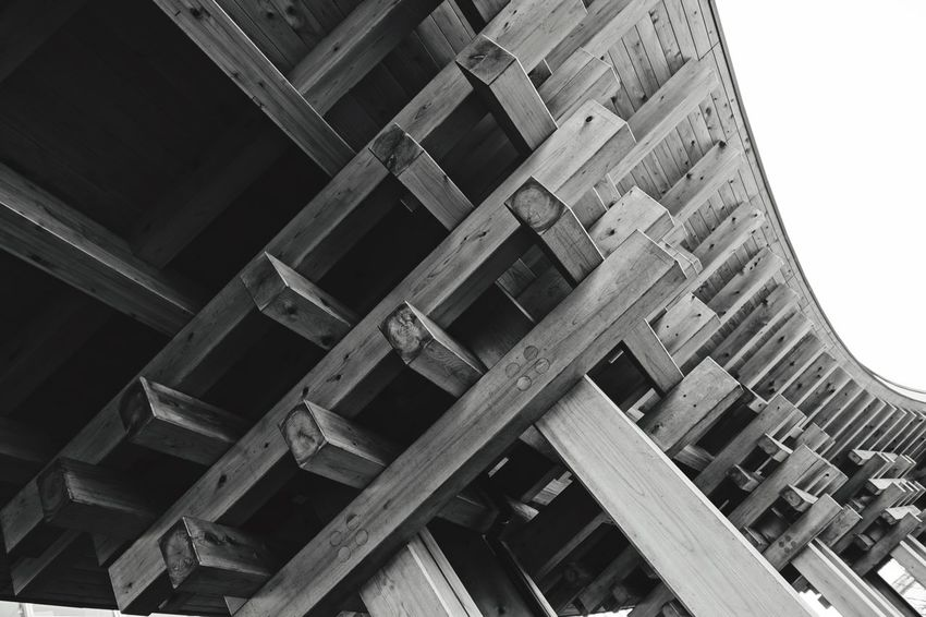 Building Wood - Material Structures & Lines Okayama Sony Rx100 Rx100 Blackandwhite Photography Squre Patterns Wooden Pivotal Ideas Minimalist Architecture