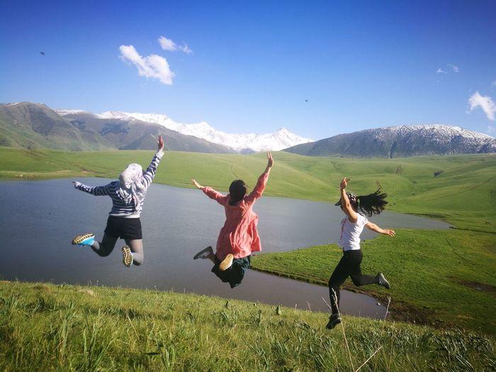 Almatymountains Hiking Hikingadventures Weekend Activities WEKEEND EyeEm Selects Kazakhstan Friends Womens Friendship Teamwork Young Women Togetherness Bonding Happiness Women Cheerful Smiling Enjoyment