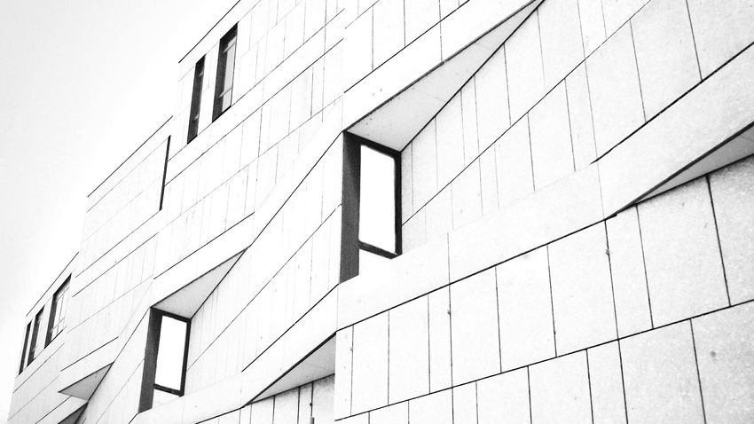Architecture Architecture Modern Architecture Modern Blackandwhite Black & White Blackandwhite Photography Pattern Pattern, Texture, Shape And Form Perspective No People Façade Facade Building Love Architecture Detail Outdoors Building Building And Sky Built Structure Building Exterior Angle Lines Lines And Shapes EyeEm EyeEmNewHere The Architect - 2017 EyeEm Awards Your Ticket To Europe