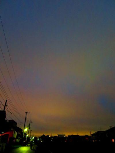 お疲れ様でした。 Sun Set Canon S120 Twilight Rain Day